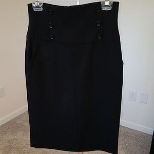 Body contouring, high waisted pencil skirt
